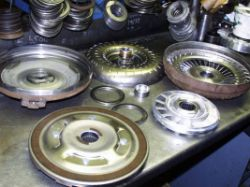 The insides of a Torque converter